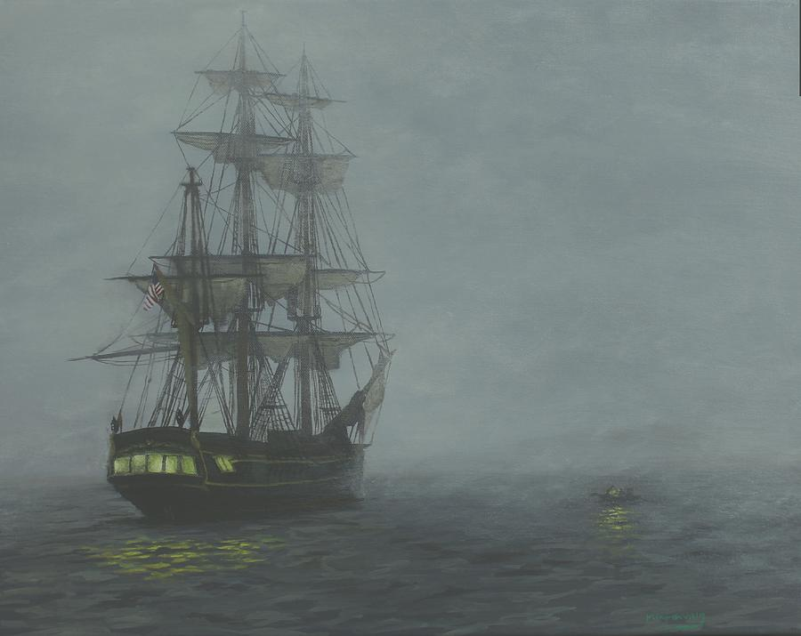 Hms Bounty Painting - Contemplation of power by Myke Irving