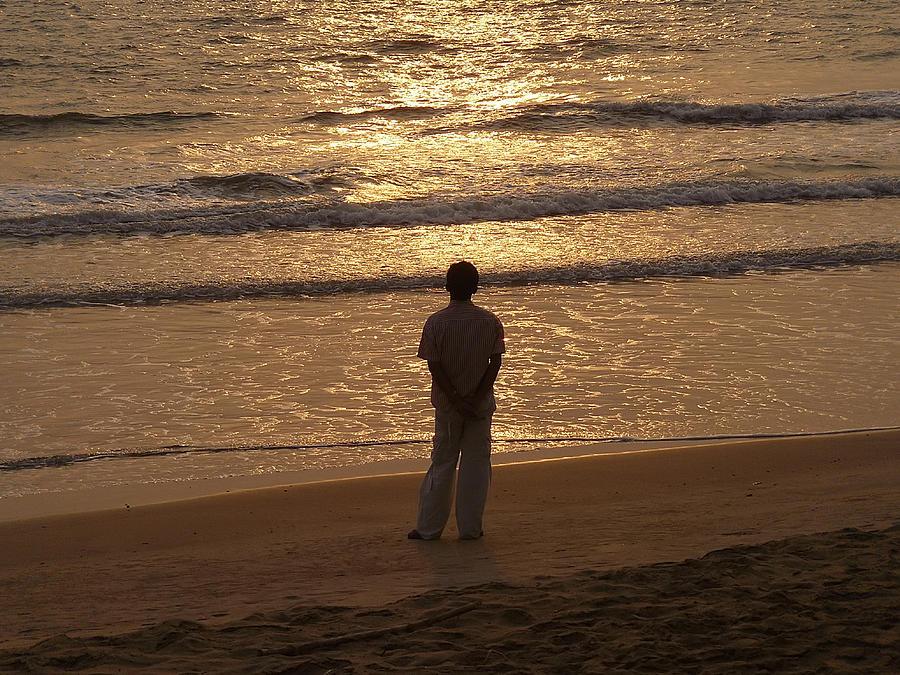 Sunset Photograph - Contemplation by Sandeep Gangadharan