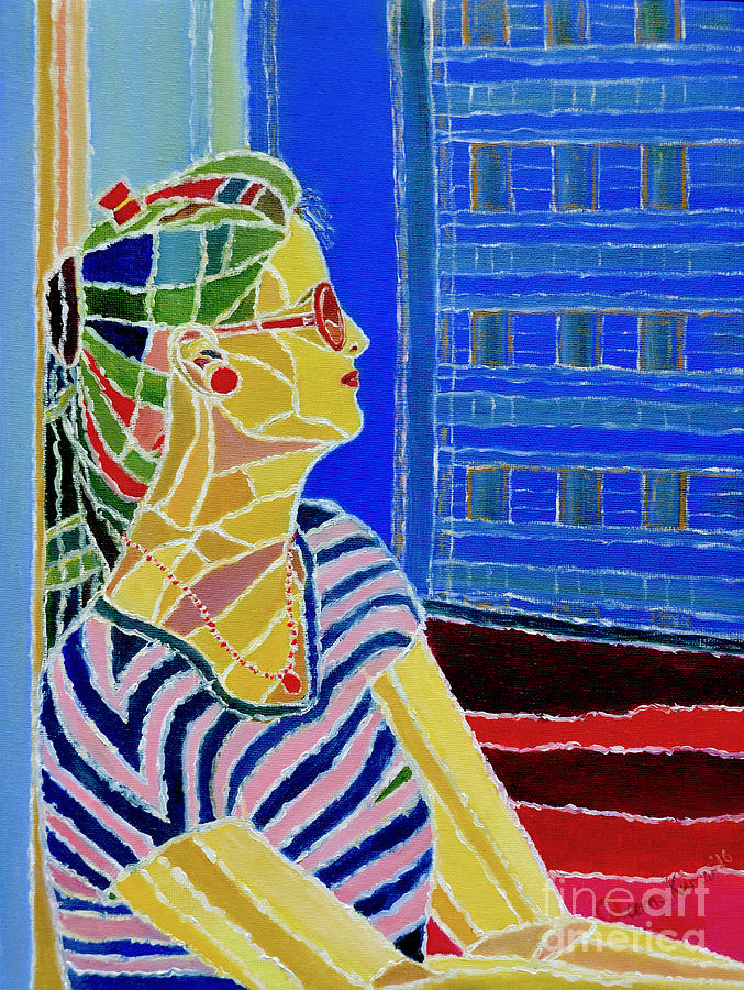 Colorful Wall Decor Painting - Contemplation by Seema Kumar
