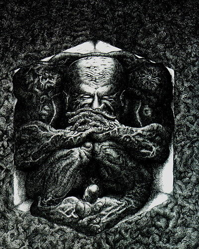 Dark Drawing - Contemplation by Tobey Anderson