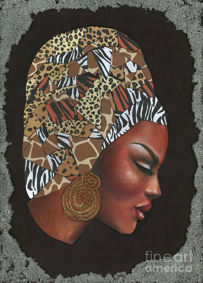 Painting Mixed Media - Contemplation Too by Alga Washington