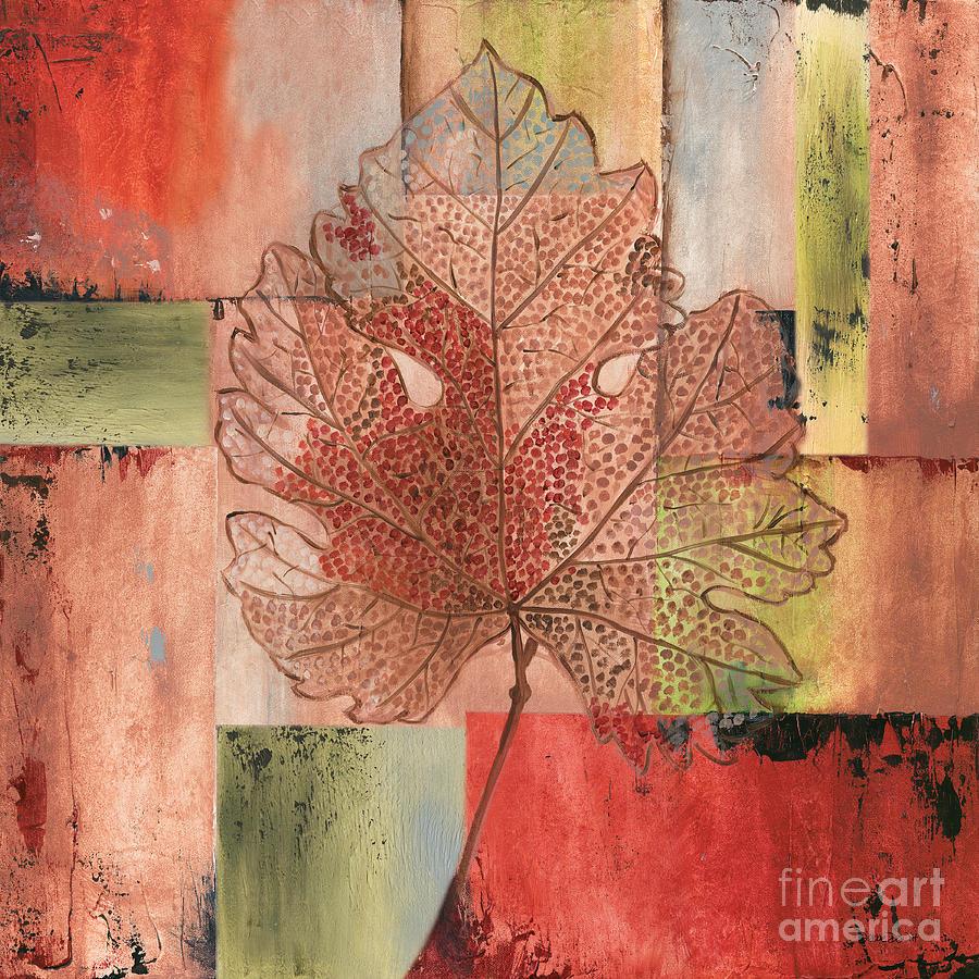 Contemporary Painting - Contemporary Grape Leaf by Debbie DeWitt