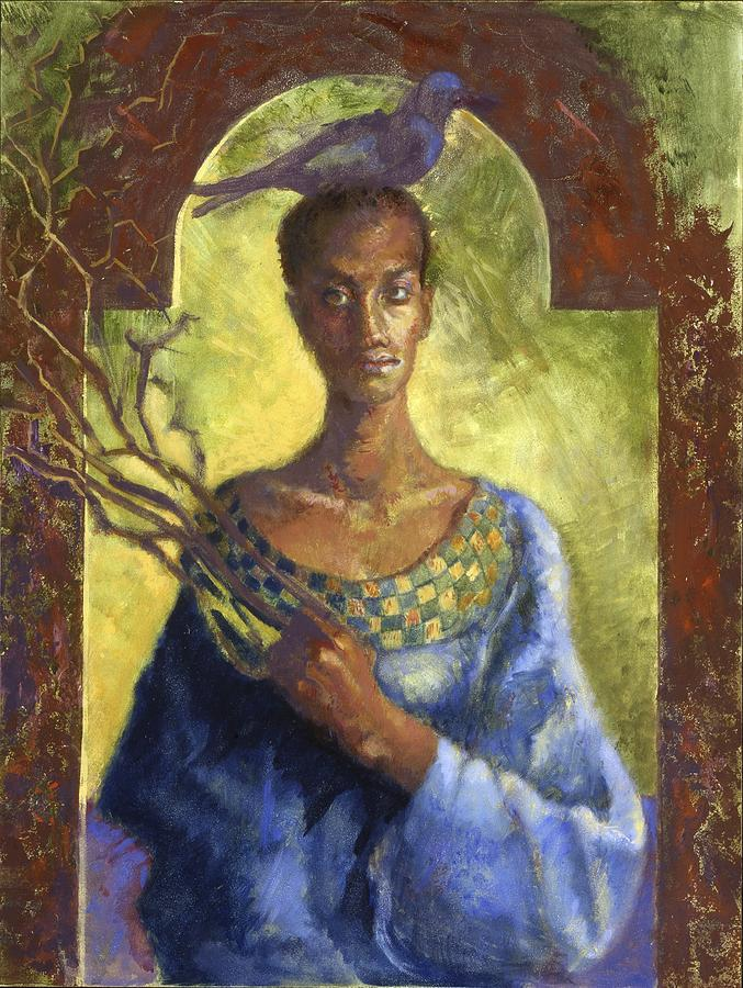 Contemporary Painting - Contemporary Icon by Ellen Dreibelbis