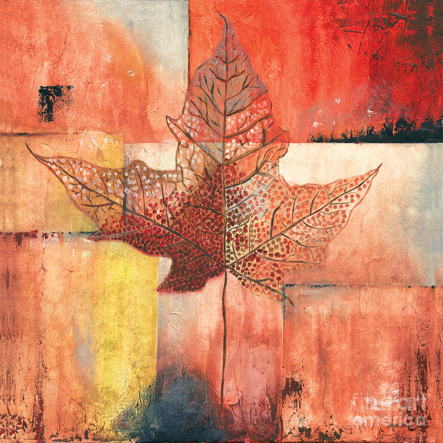 Contemporary Painting - Contemporary Leaf 2 by Debbie DeWitt
