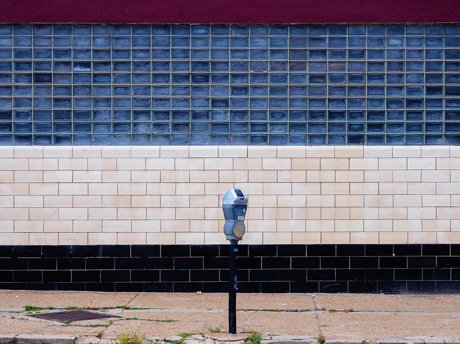 Minimal Photograph - Contemporary Minimal Photography Print. Parking Meter. by Dylan Murphy