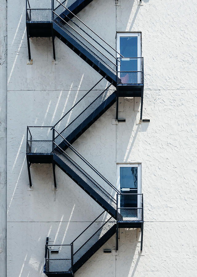 Minimal Photograph - Contemporary Minimalist Photography Of Stairwell by Dylan Murphy