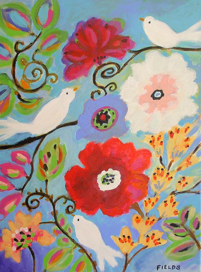 Landscape Painting - Contentment by Karen Fields