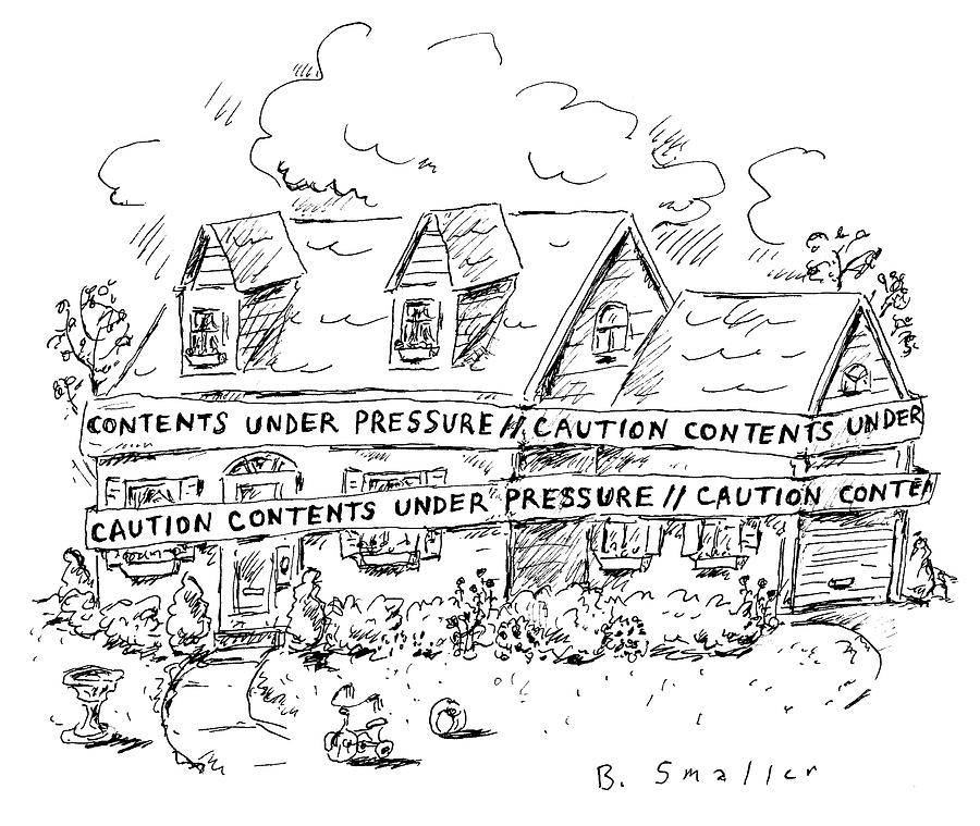 Contents Under Pressure Drawing by Barbara Smaller