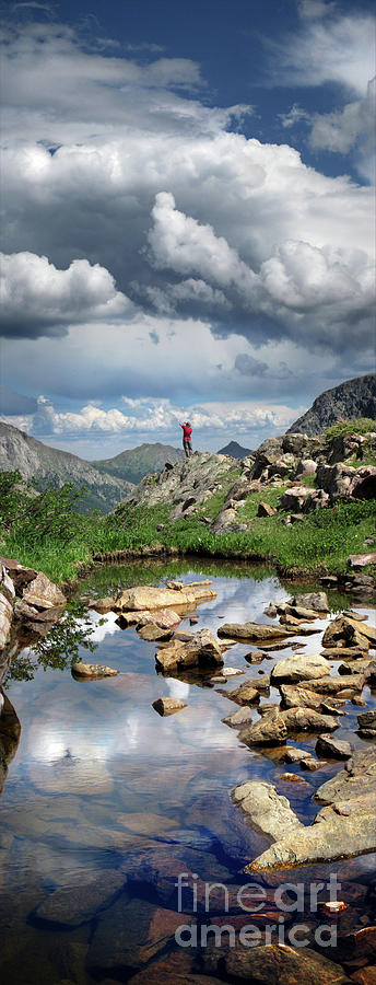 Weminuche Wilderness Photograph - Continental Divide Above Twin Lakes 4 - Weminuche Wilderness by Bruce Lemons