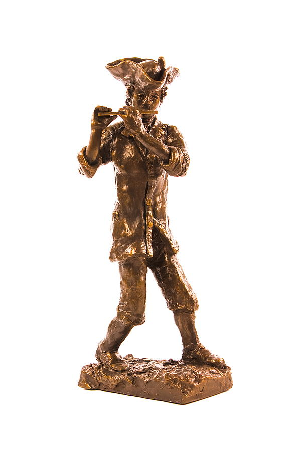 Revolutionary War Soldier Sculpture - Continental Marching Fifer by Alan Thompson