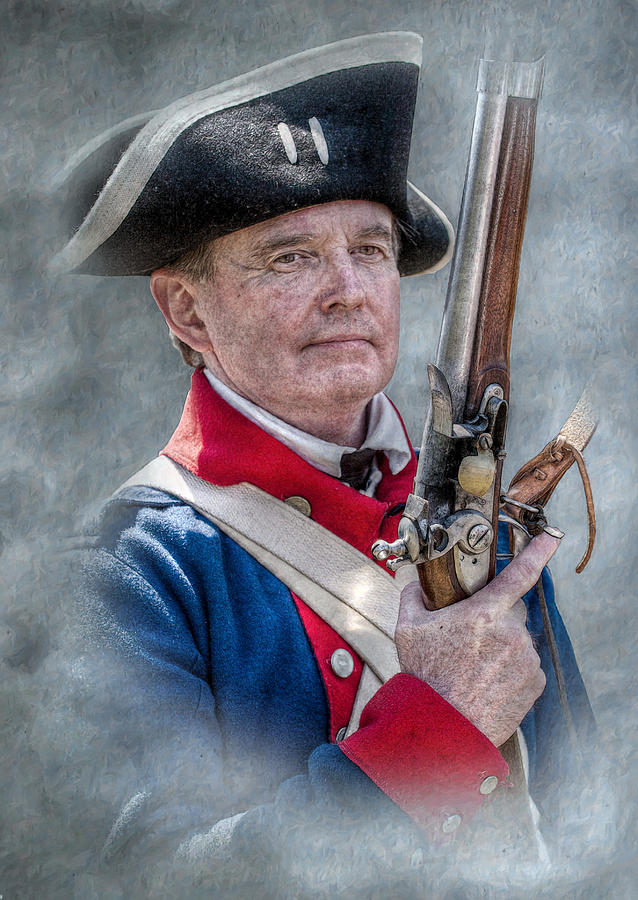 Revolutionary War Soldier Digital Art - Continental Soldier Portrait by Randy Steele