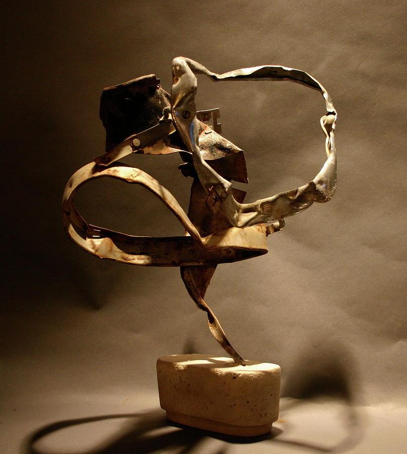 Recycled Art Sculpture - Contortion by Richard Heffron