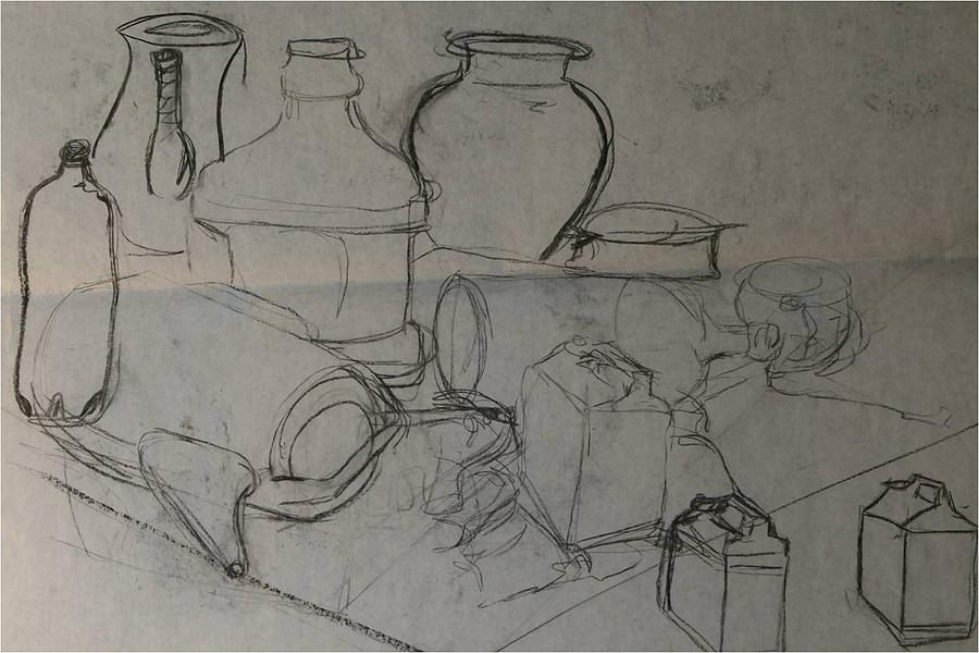 Contour Line Drawing Pdf : Contour line still life drawing by kate padberg
