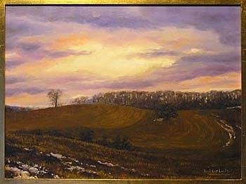 Contours January Thaw Painting by Karl Eric Leitzel