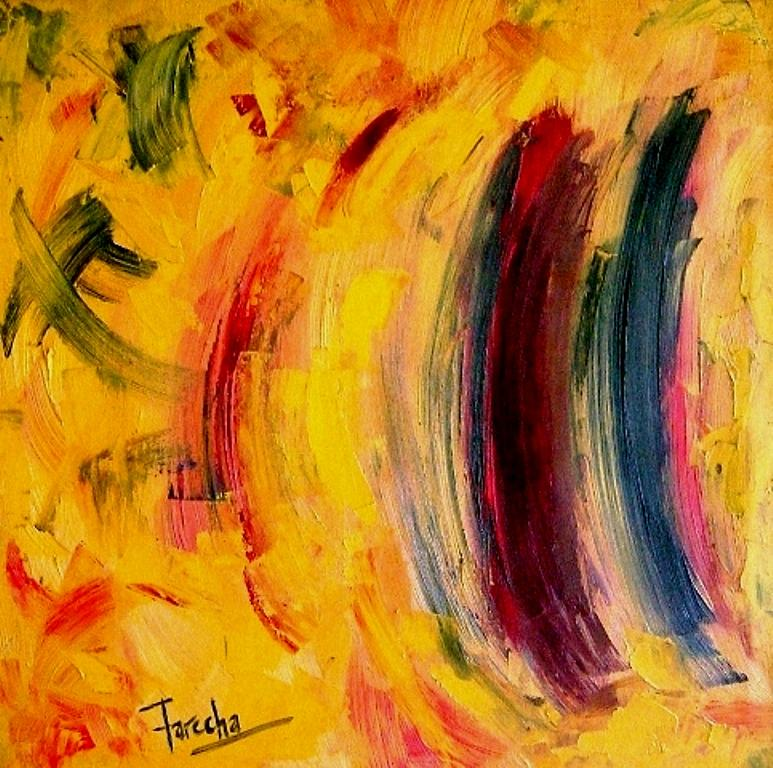 Abstract Painting - Contradiction  by Fareeha Khawaja