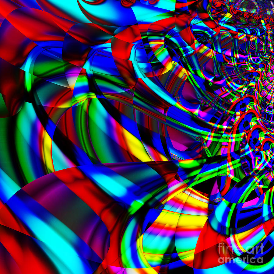 Fractal Digital Art - Contradictions . S14.s15 by Wingsdomain Art and Photography