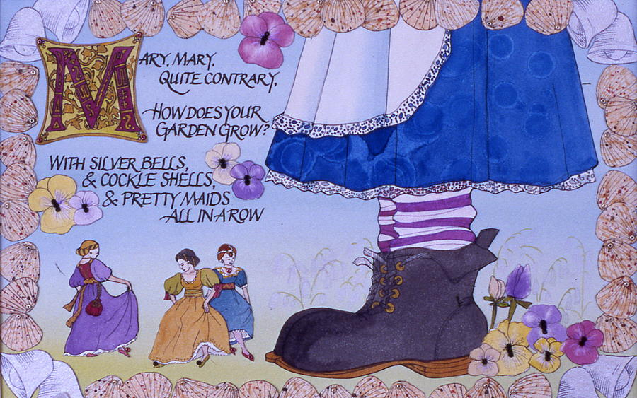 Nursery Rhyme Painting - Contrary Mary by Victoria Heryet
