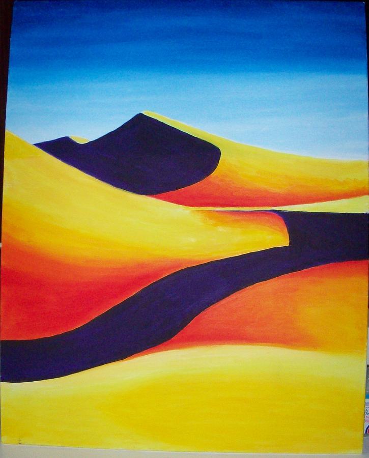 Desert Painting - Contrast by Caitlin Binkhorst