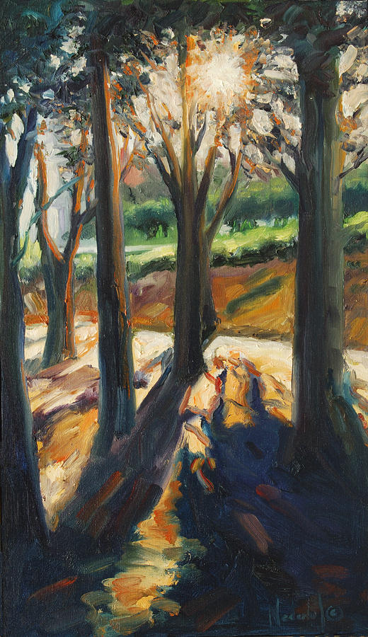 Trees Painting - Contrast by Rick Nederlof