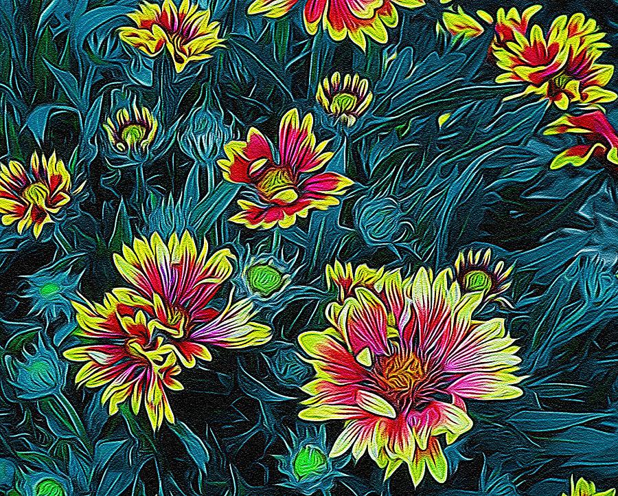 Contrasting Colors Digital Art By Ernie Echols