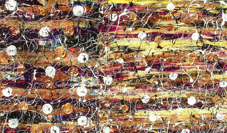Abstract Painting - Controled Chaos by Terry Womble