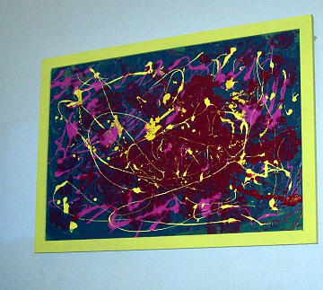 Abstract Painting - Controlled Chaos by Cathy Kaiser