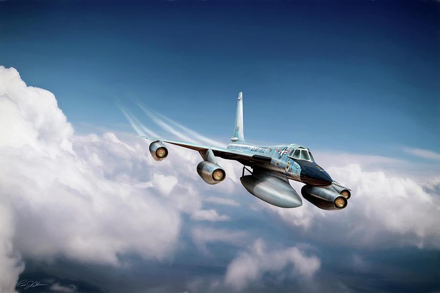 Aviation Digital Art - Convair B-58 Hustler by Peter Chilelli