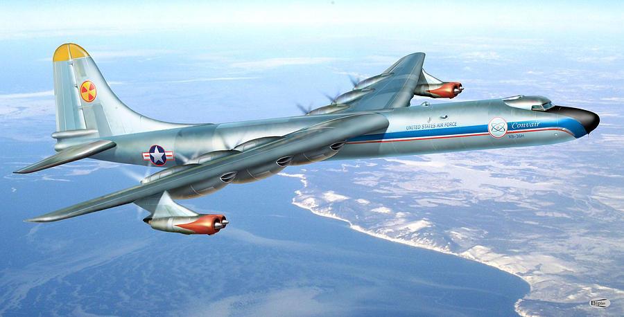 Convair NB-36H Digital Art by Alex Arkhipau