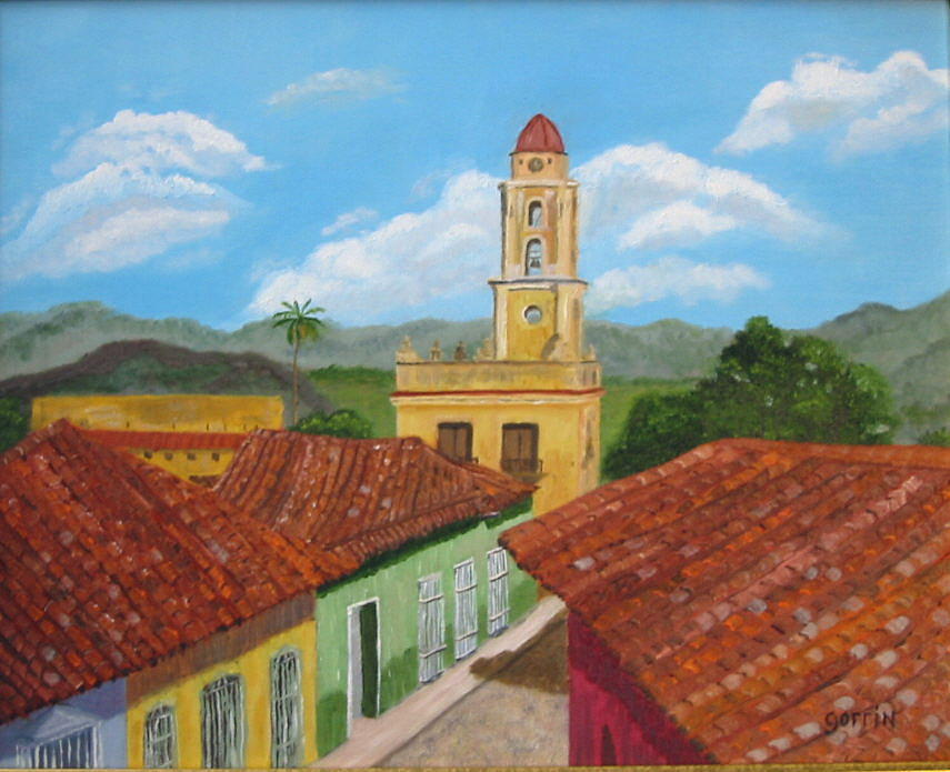 Landscape Painting - Convent Of Trinidad by Roger E Gorrin