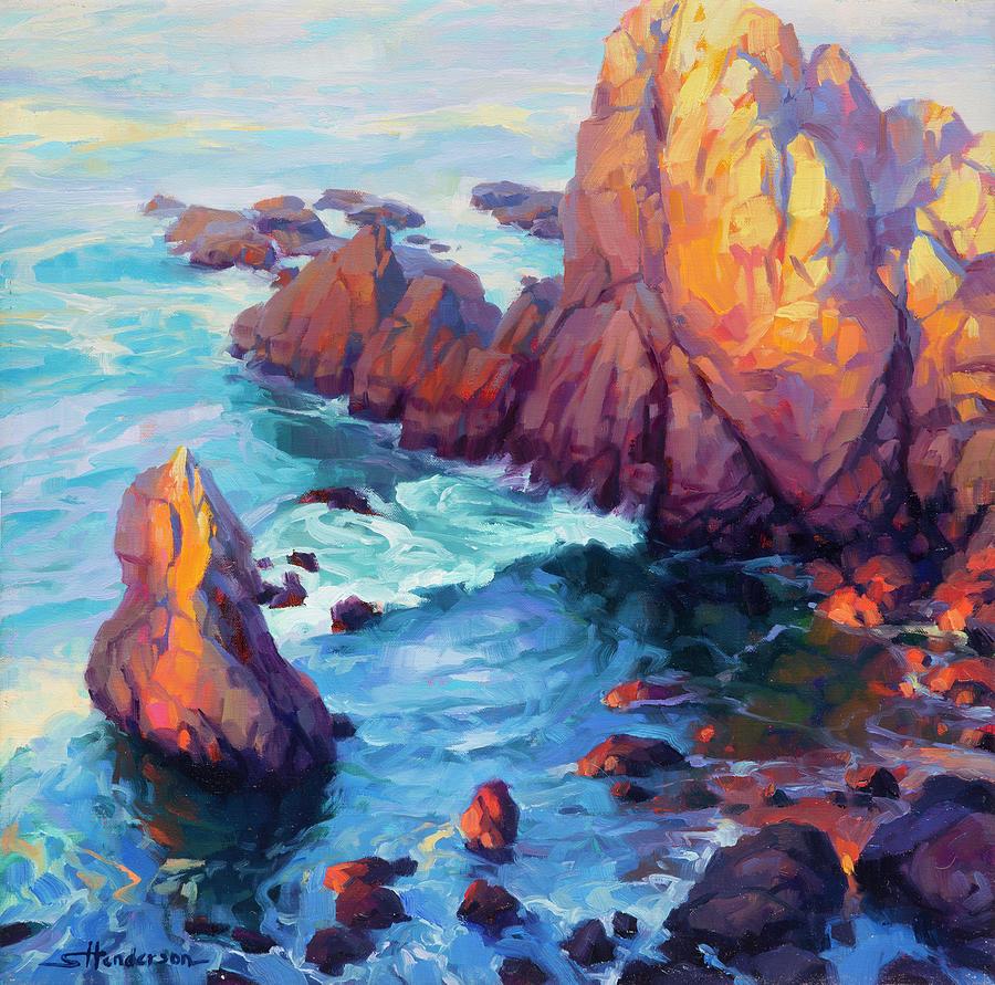 Ocean Painting - Convergence by Steve Henderson