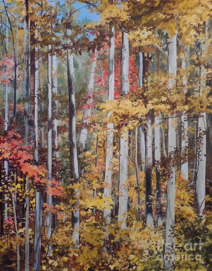Fall Painting - Converging Colors by Carla Dabney