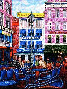 Amsterdam Painting - Conversations In Amsterdam by Max R Scharf