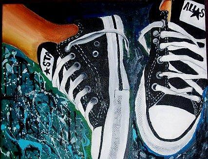 bc503eb4a1884a Shoes Painting - Converse by Alex Whisonant