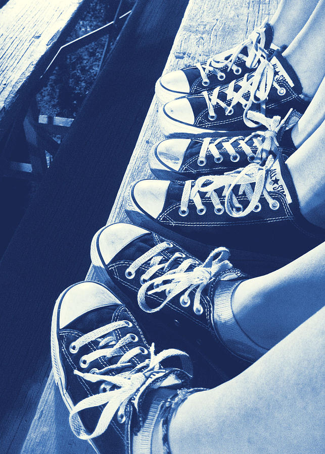Sneaker Photograph - Converse Blues by JAMART Photography