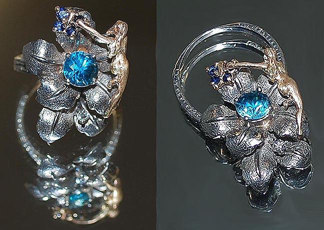 Nouveau Ring Sculpture - Convertible Fairy Ring  Pendant by Michelle  Robison