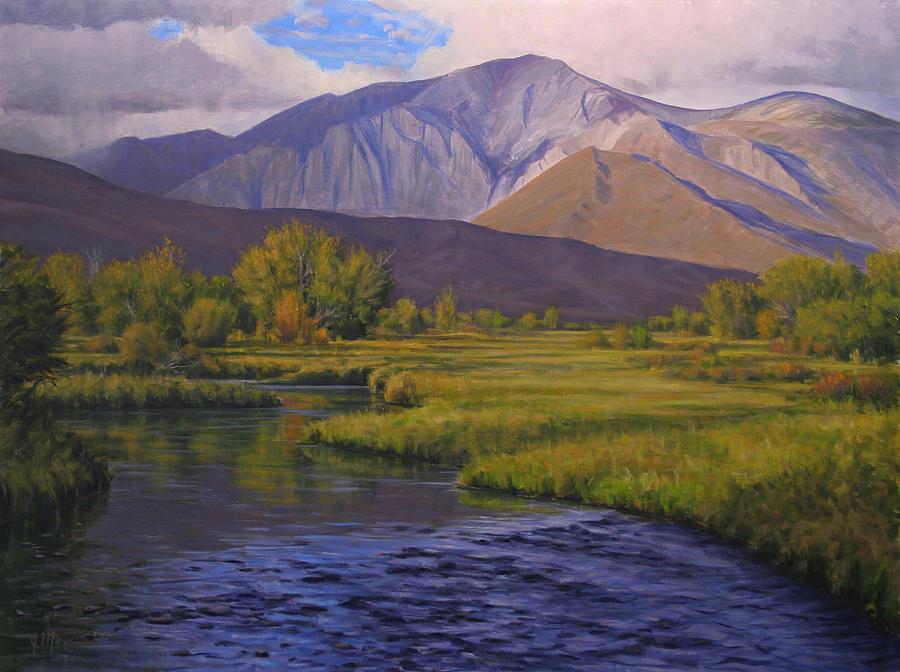 High Sierras Painting - Convict Creek-eastern Sierras by Joe Mancuso