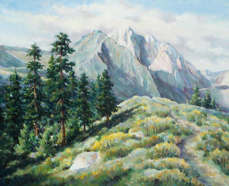 Landscape Painting - Convict Lake Guardians by Don Trout