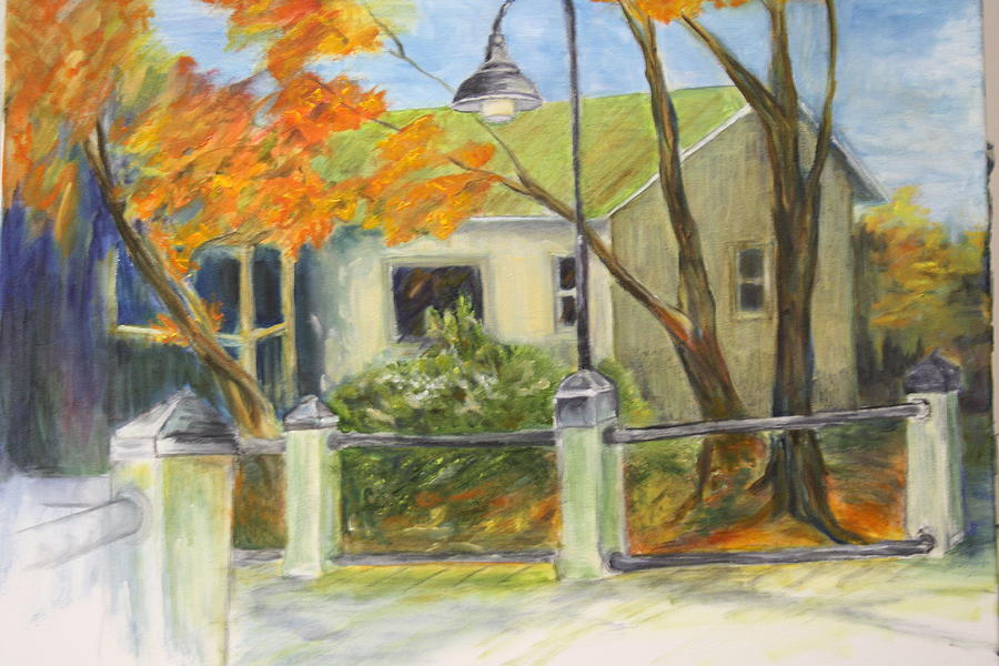 Landscape Painting - Conway Fish House by Sandra Taylor-Hedges