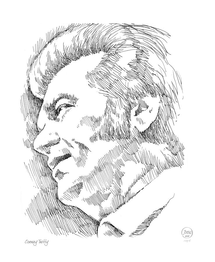 Conway Twitty Drawing