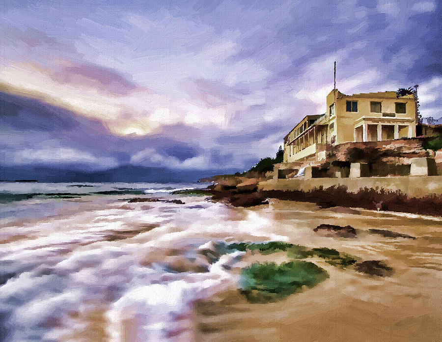 Coogee Beach Painting by Alex Zolotar