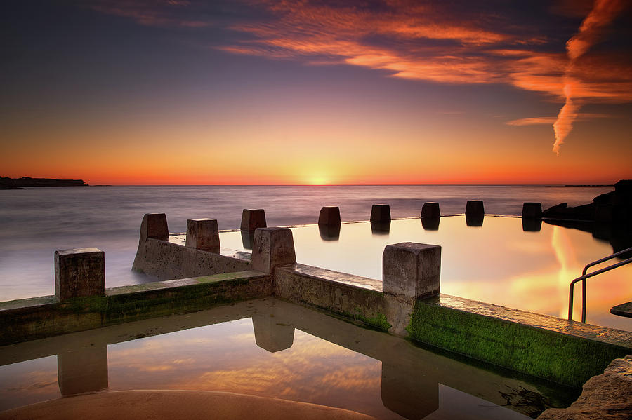 Horizontal Photograph - Coogee Beach At Early Morning,sydney by Noval Nugraha Photography. All rights reserved.