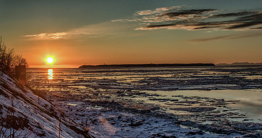 Cook Inlet Sunset Alaska  by Michael Rogers