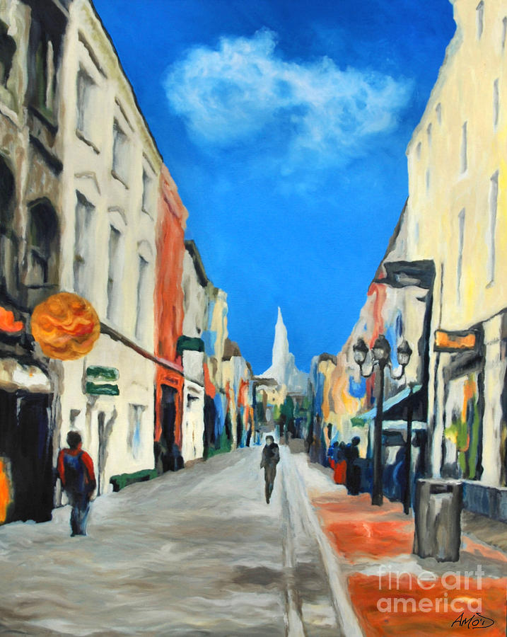Architectural Painting - Cook Street   Cork Ireland by Anne Marie ODriscoll