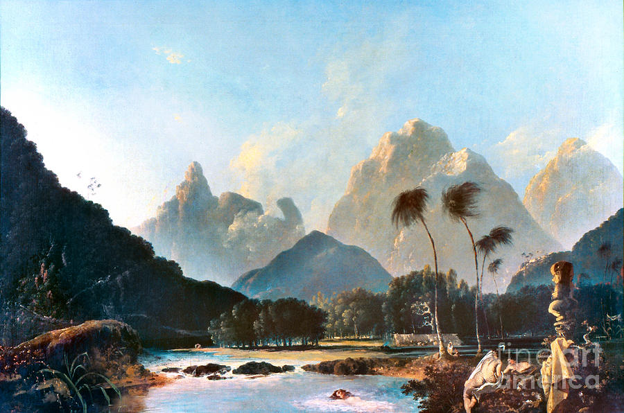 1773 Painting - Cook: Tahiti, 1773 by Granger