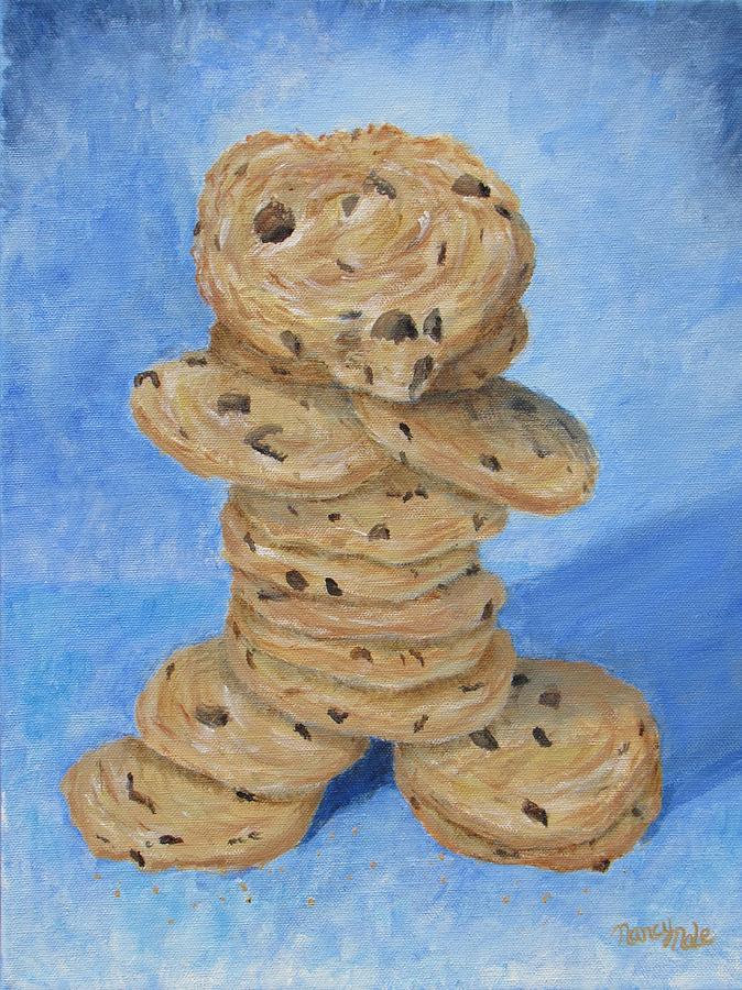 Cookies Painting - Cookie Monster by Nancy Nale