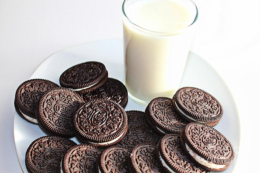 Cookies Photograph - Cookies And Milk by Barbara Griffin