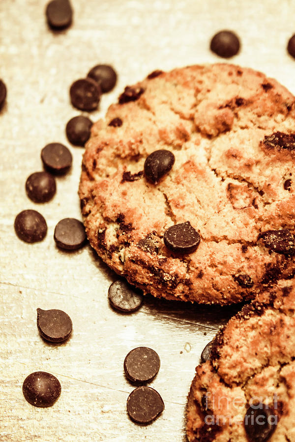 Cookie Photograph - Cookies With Chocolare Chips by Jorgo Photography - Wall Art Gallery