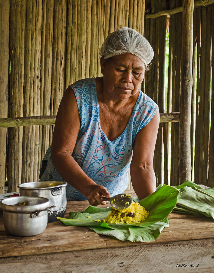 Peru Photograph - Cooking For Guests by Allen Sheffield