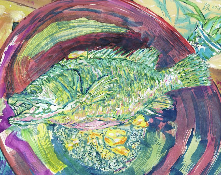 Mandarin Fish Painting - Cooking Mandarin Fish, Gue Yue by Dave Alber