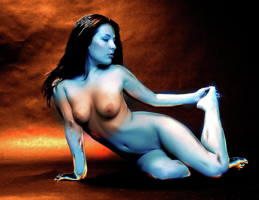 что там голая синяя девушка трахнул